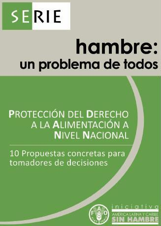 Serie: Hambre, un problema de todos. Protección del derecho a la alimentación a nivel nacional.