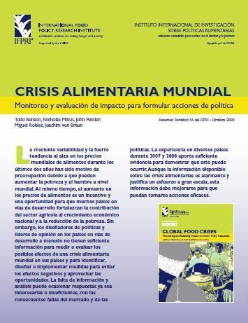 Crisis Alimentaria Mundial: Monitoreo y evaluación de impacto para formular acciones de política