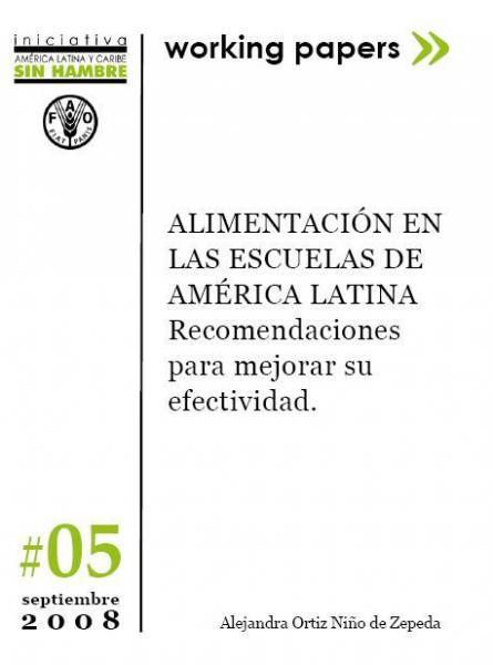 Alimentación en las Escuelas de América Latina: Recomendaciones para mejorar su efectividad