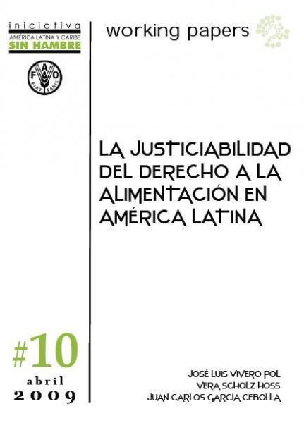 La Justicialidad del Derecho a la Alimentación en América Latina