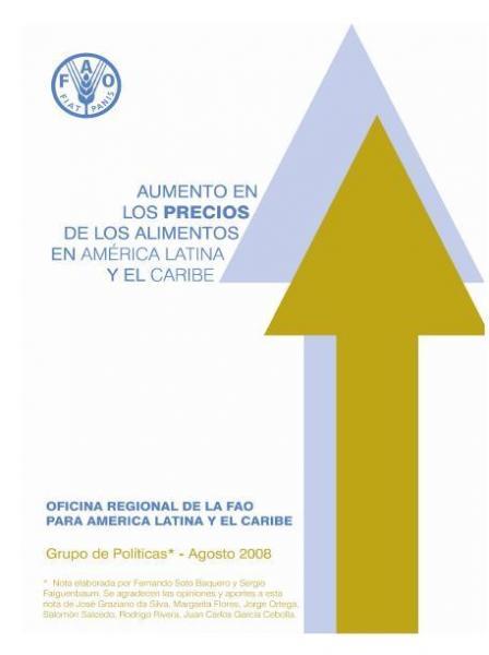Aumento en los precios de los alimentos en América Latina y el Caribe.