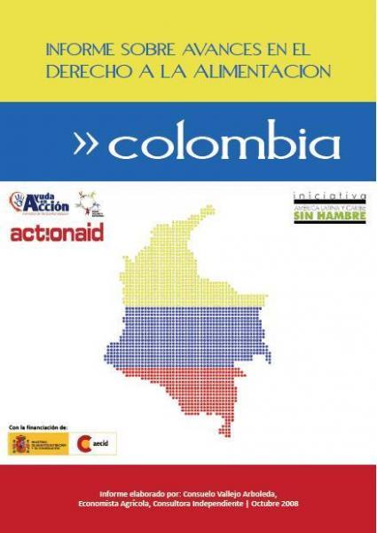Informe sobre avances en el derecho a la alimentación en Colombia