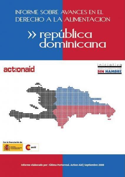 Informe sobre avances en el derecho a la alimentación en República Dominicana