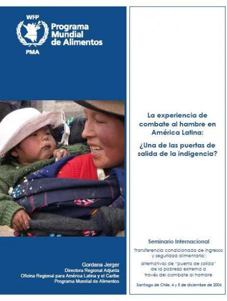 La experiencia de combate al hambre en América Latina: ¿Una de las puertas de salida de la indigencia?