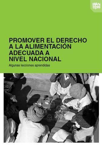 Promover el Derecho a la Alimentación Adecuada a Nivel Nacional: Algunas lecciones aprendidas