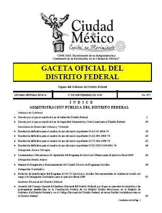 Ley de Seguridad Alimentaria y Nutricional para el Distrito Federal