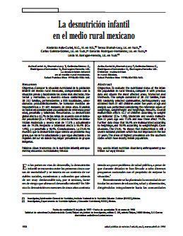 La desnutrición infantil en el medio rural mexicano