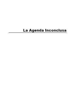 La Agenda Inconclusa: Perspectivas para Superar el Hambre, la Pobreza y la Degradación Ambiental