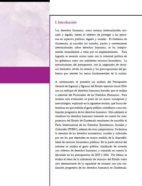 Análisis del Presupuesto Nacional 2006: Un enfoque de derechos