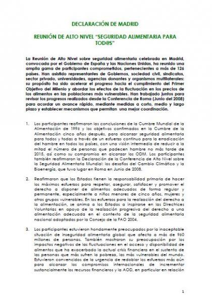 Prosalus y el derecho a la alimentación: Documento de análisis y posicionamiento
