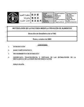 Metodología de la FAO para medir la privación de alimentos