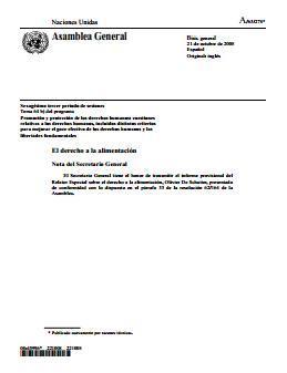 Mayor capacidad de respuesta: un marco de derechos humanos para la seguridad alimentaria y nutricional mundial