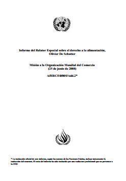 Misión a la Organización Mundial del Comercio 2008.