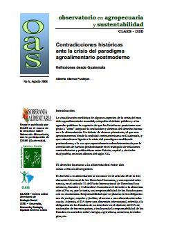 Contradicciones históricas ante la crisis del paradigma agroalimentario postmoderno. Reflexiones desde Guatemala.