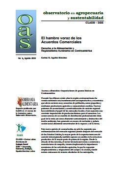 El hambre voraz de los Acuerdos Comerciales. Derecho a la Alimentación y Regionalismo Autónomo en Centroamérica.