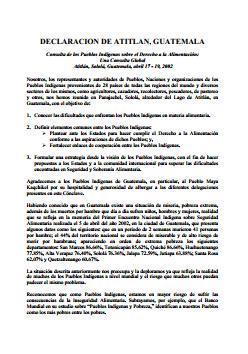 Declaración de Atitlan, Guatemala.