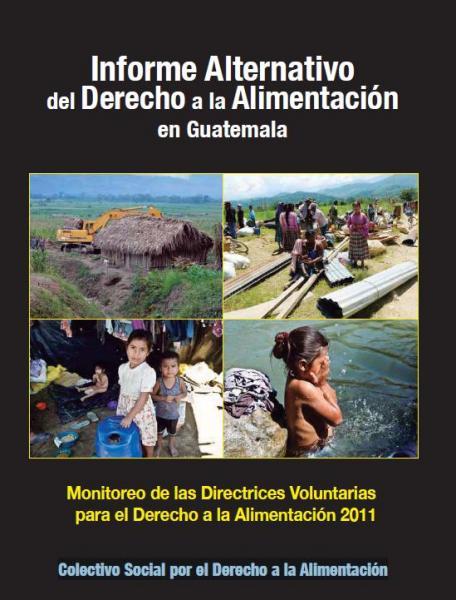 Informe Alternativo del Derecho a la Alimentación en Guatemala. Monitoreo de las Directrices Voluntarias para el Derecho a la Alimentación 2011.