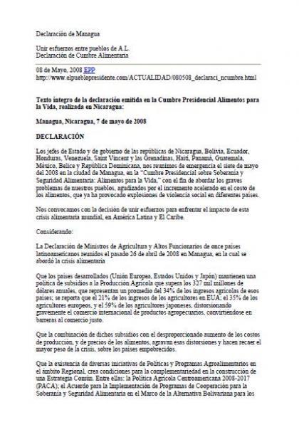Declaración de Managua