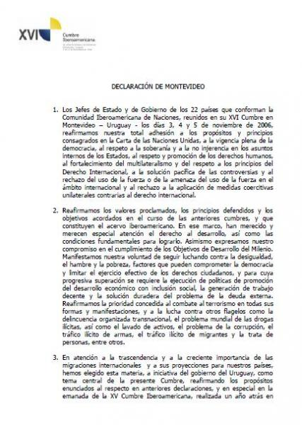 Declaración de Montevideo