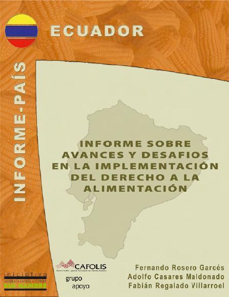 Informe sobre los avances y desafíos en la implementación del Derecho a la Alimentación en Ecuador