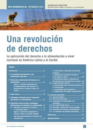 Una revolución de derechos. La aplicación del derecho a la alimentación a nivel nacional en América Latina y el Caribe.