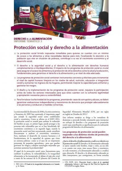 Protección social y derecho a la alimentación