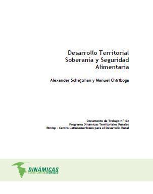 Desarrollo Territorial, Soberanía y Seguridad Alimentaria