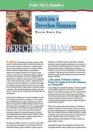 Nutrición y Derechos Humanos