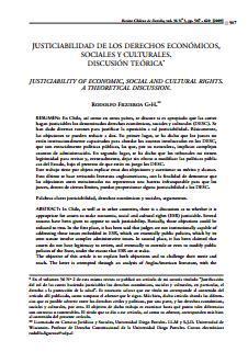 Justiciabilidad de los DESC. Discusión Teórica