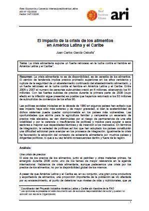El impacto de la crisis de los alimentos en América Latina y el Caribe