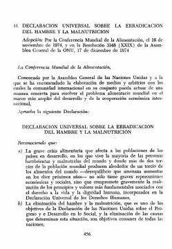 Declaración Universal sobre la Erradicación del Hambre y la Malnutrición