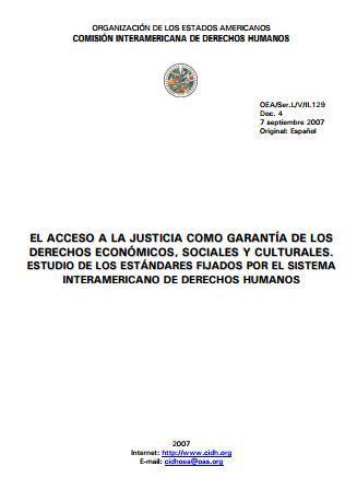 El acceso a la justicia como garantía de los DESC.