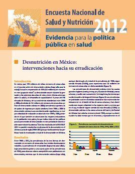 Desnutrición en México: intervenciones hacia su erradicación
