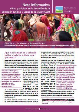 Cómo participar en la Comisión de la Condición Jurídica y Social de la Mujer (CSW). Nota informativa.