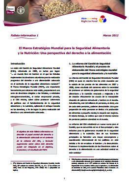 El Marco Estratégico Mundial para la Seguridad Alimentaria y la Nutrición: Una perspectiva del derecho a la alimentación.