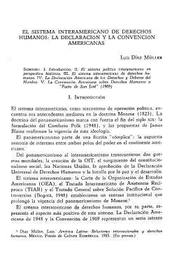 El Sistema Interamericano de Derechos Humanos: la Declaración y la Convención Americanas
